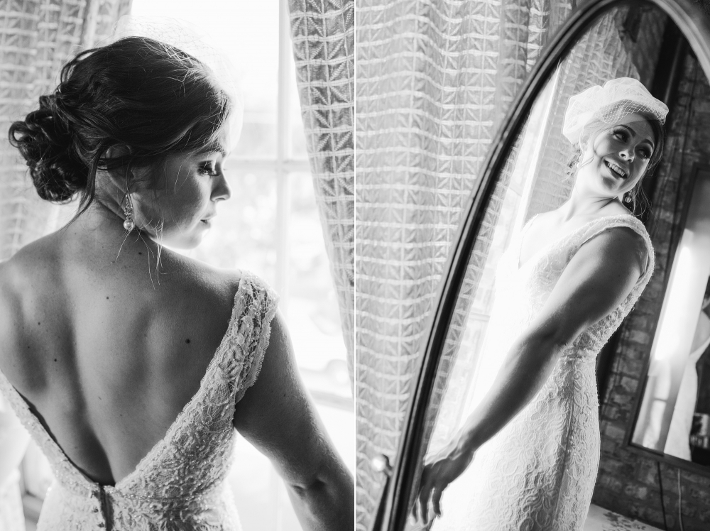 These are photos of Rachel during getting ready time.