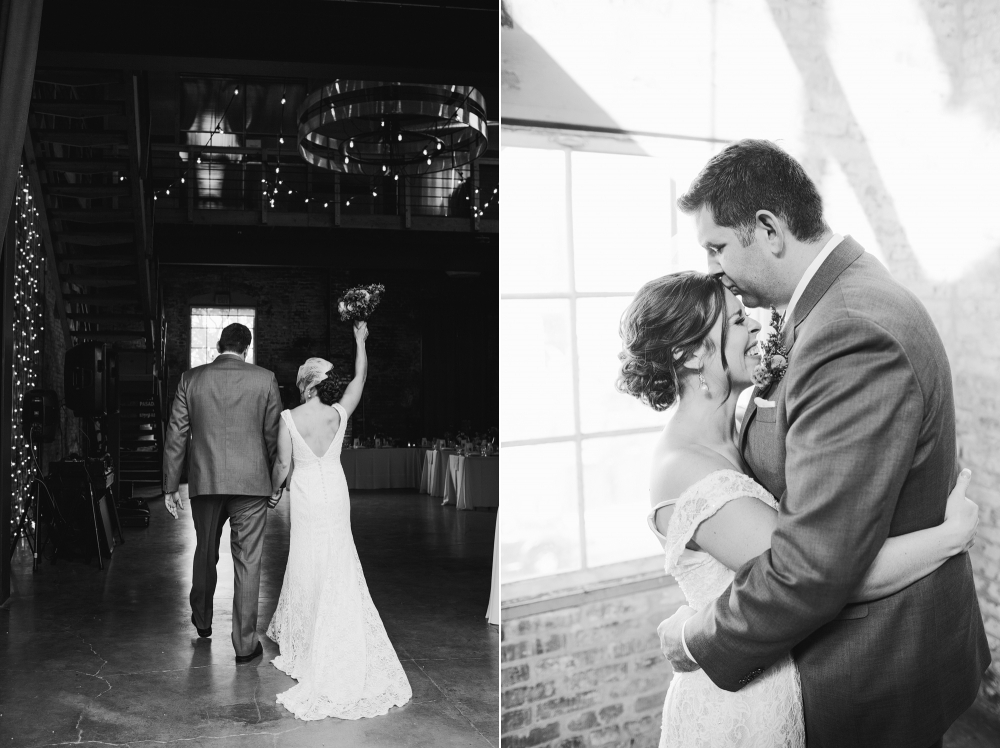 These are photos of Rachel and Seth right after the ceremony.