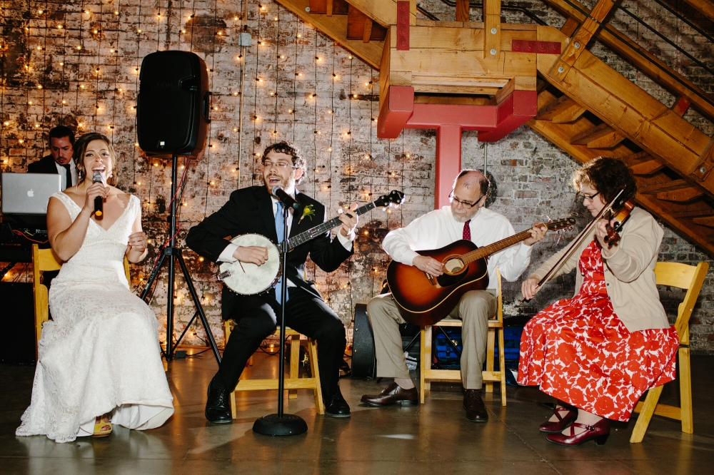 When the couples sing at weddings, they win at life. True story.