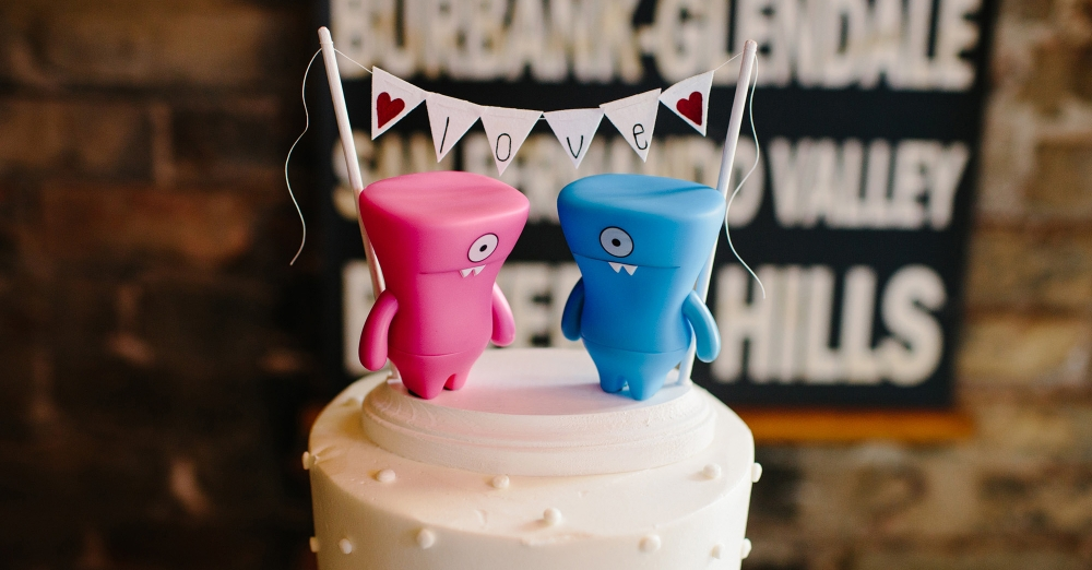 This cake topper just warms our hearts.