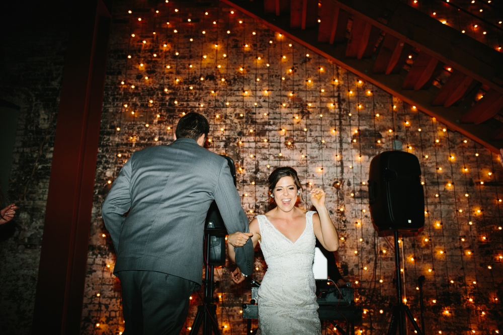 This is a photo of Rachel and Seth cutting a rug!