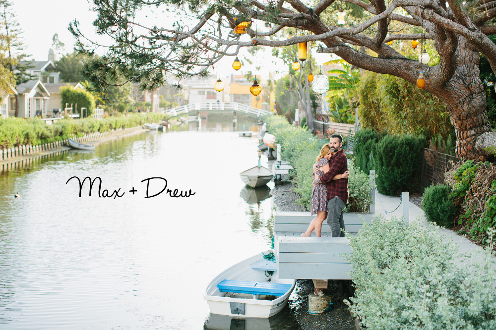 Max and Drew in the Venice Canals.