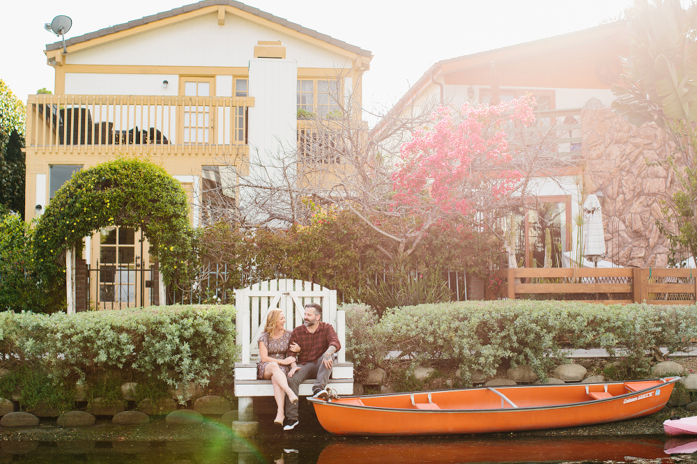 The couple sticking on a dock.
