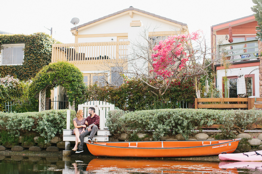 Max and Drew in the canals.