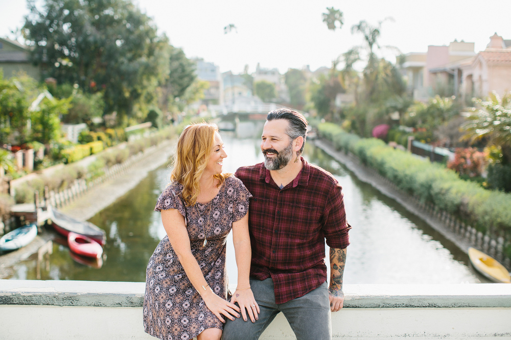 The couple sitting together.