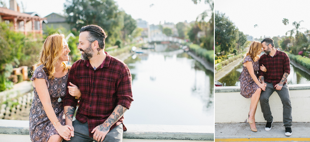 Max and Drew on the sidewalk.