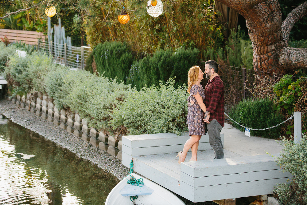 Max and Drew standing on a dock.