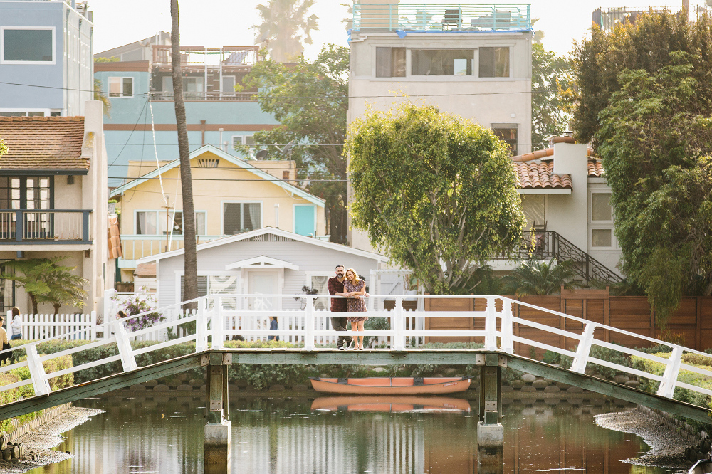 Max and Drew standing on a bridge.