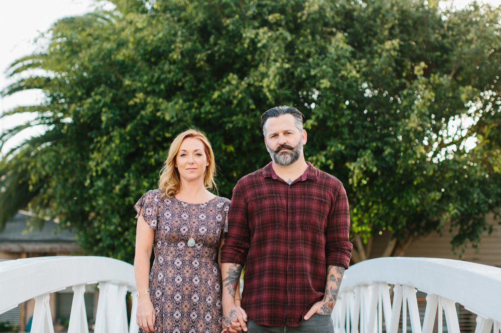 Max and Drew holding hands.
