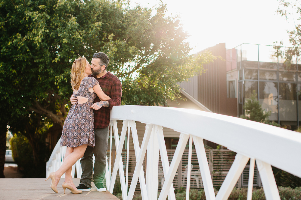 Max and Drew leaning on the railing.