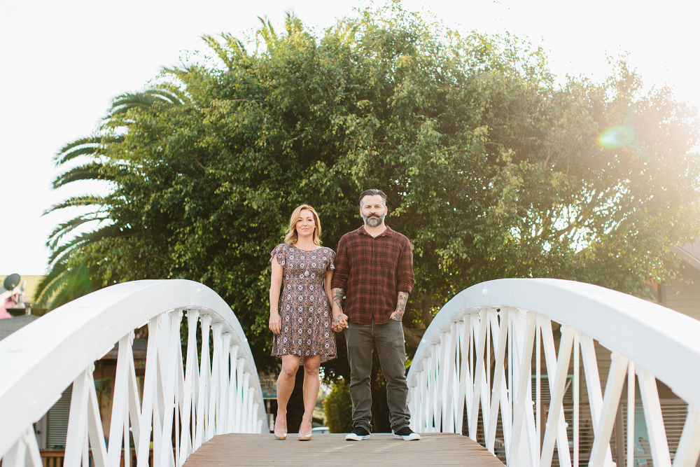 Max and Drew on a bridge.