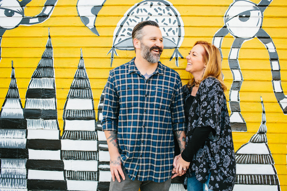The couple along the Venice streets.