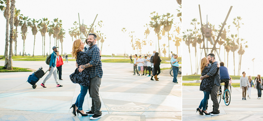 Max and Drew on the boardwalk.
