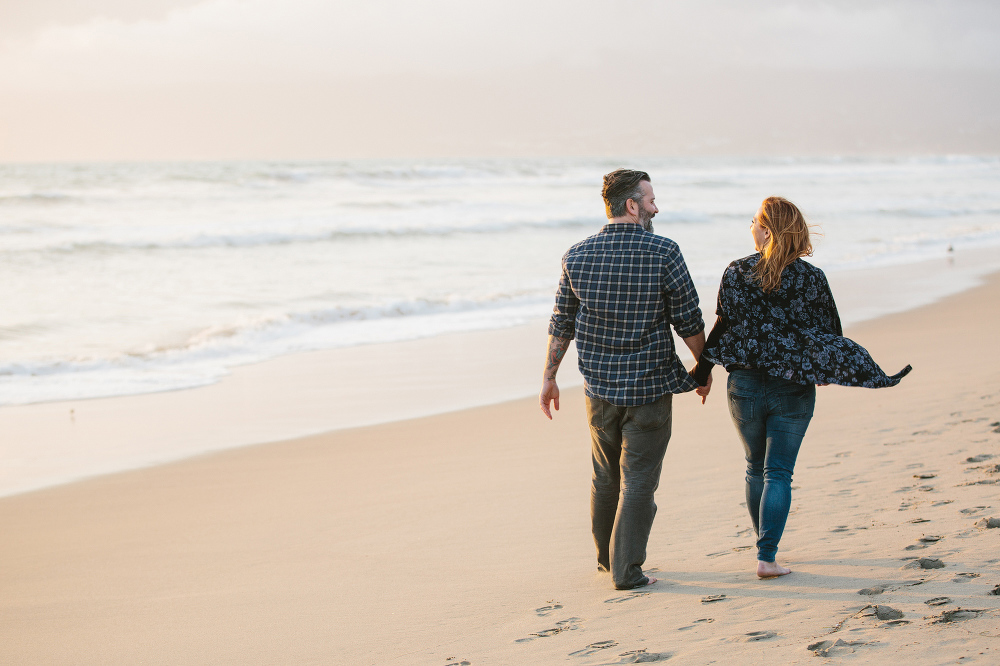 Max and Drew on the beach.
