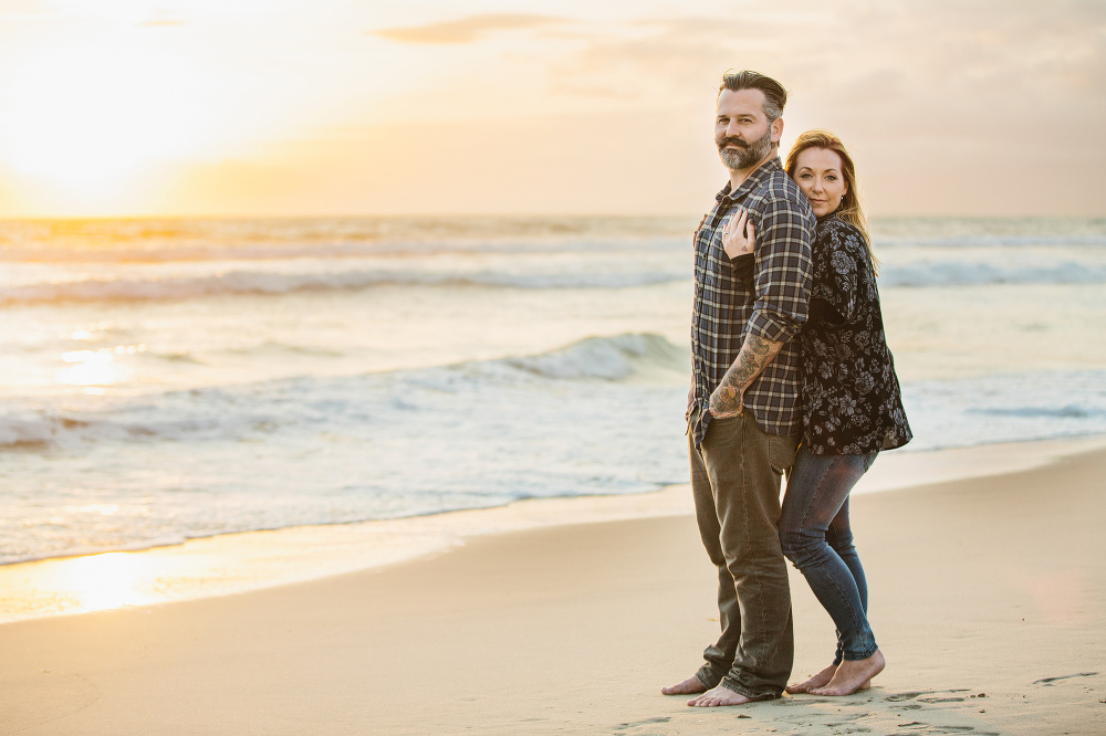 Max and Drew at sunset.