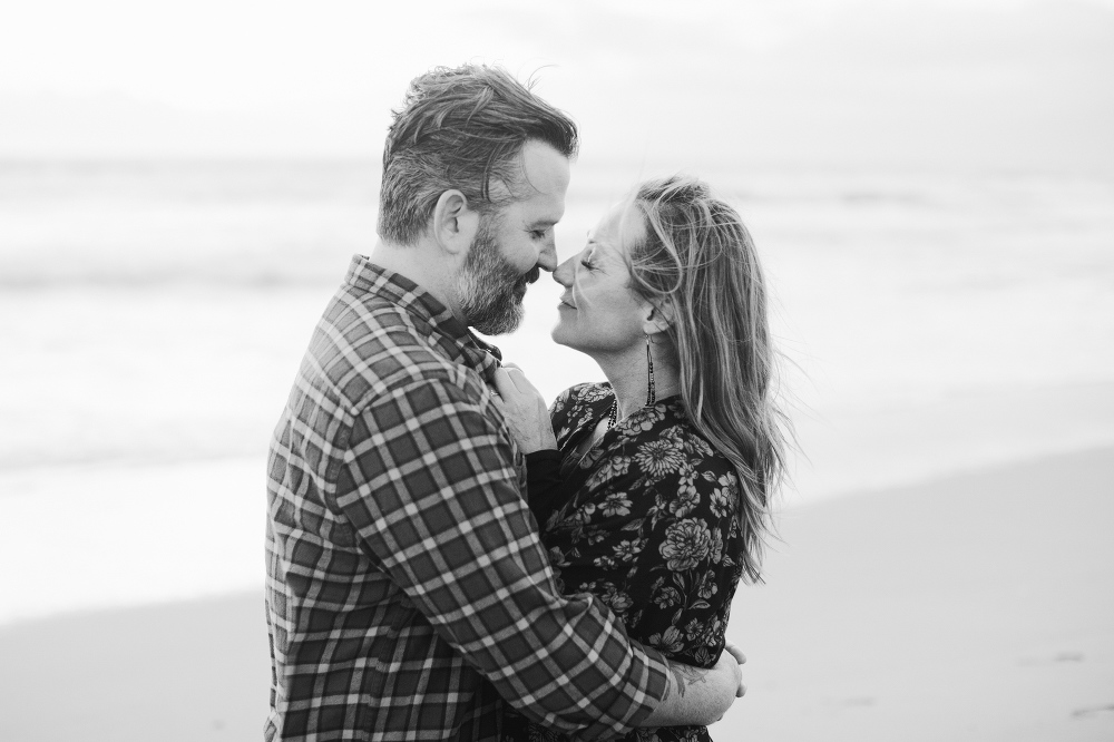 A black and white portrait.