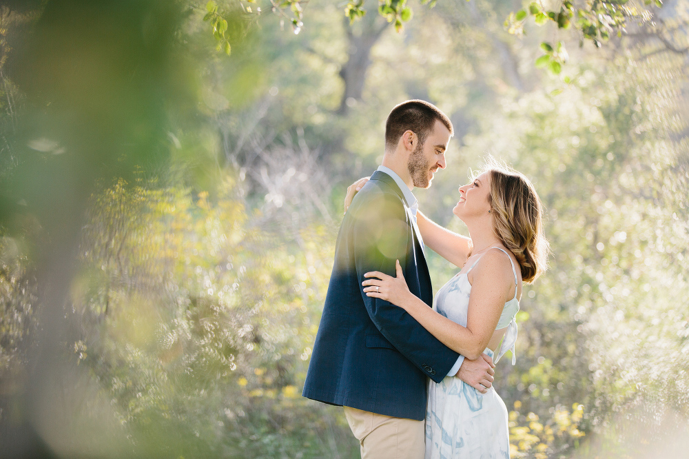 Kara and Sean through the trees.