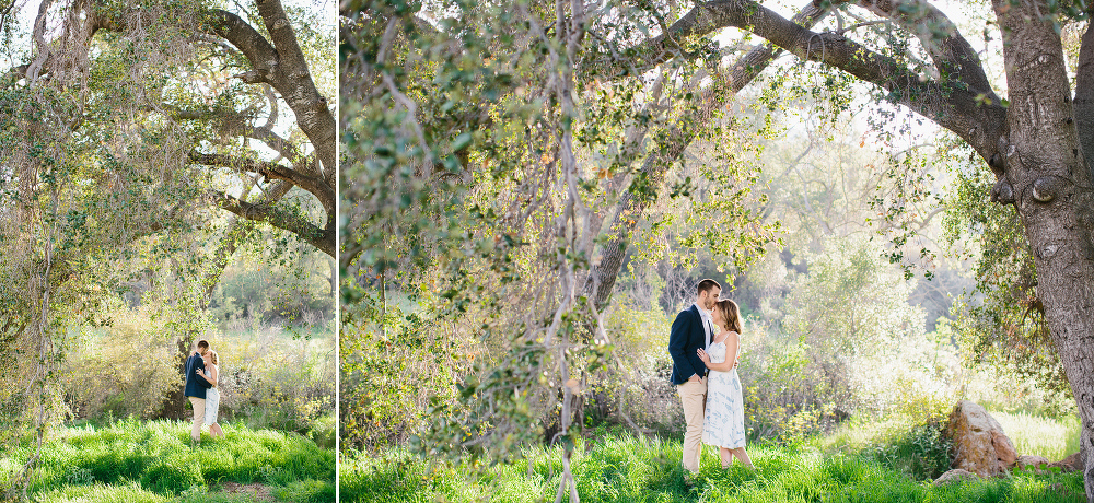 The couple in a grass field.
