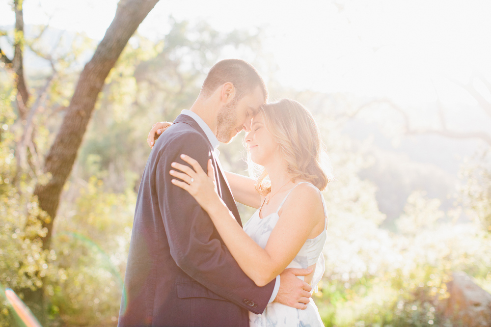 A golden photo of the couple.