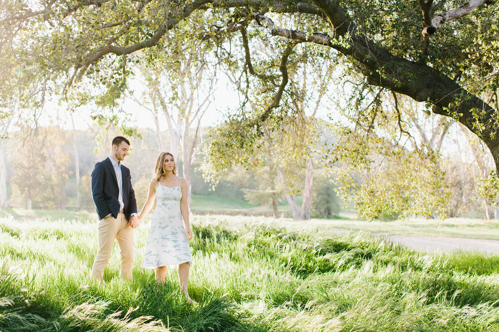 Kara and Sean walking.