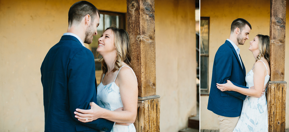 The couple in the western town.