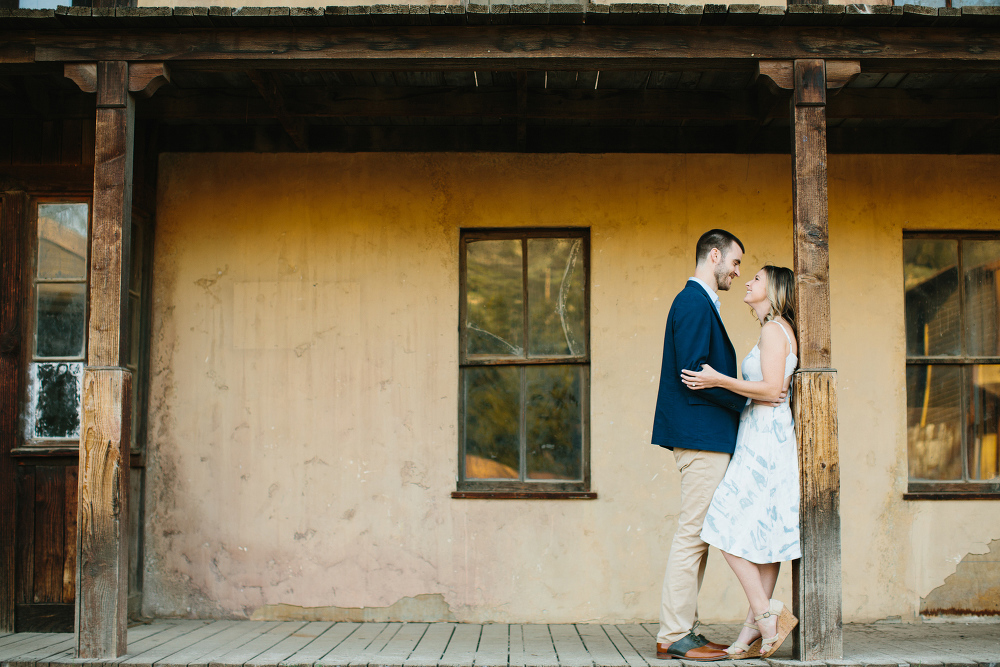 Kara and Sean in the western town.
