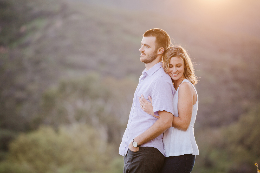 The couple at sunset.