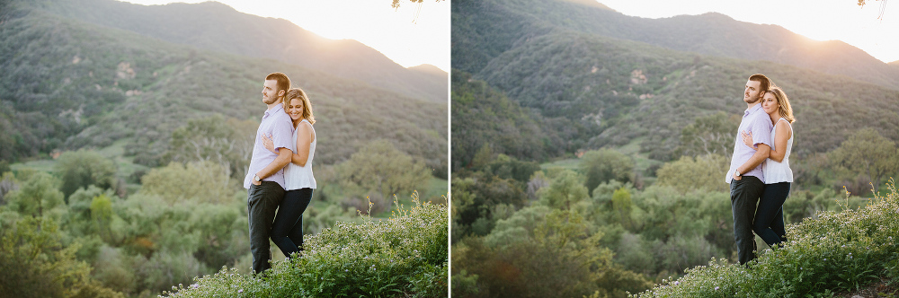 Kara and Sean on the hillside.