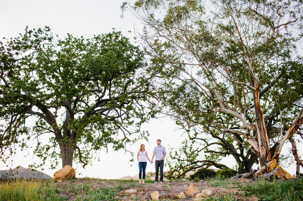 Kara and Sean in the Malibu Hills.