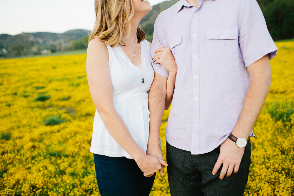 The yellow fields.