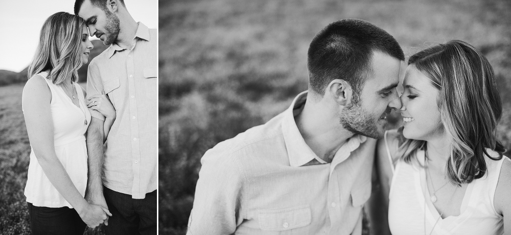 Black and white portraits of the couple.