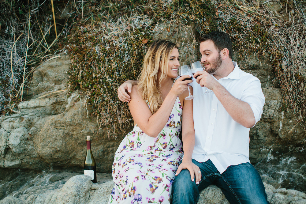 Engagement photography and wine photos